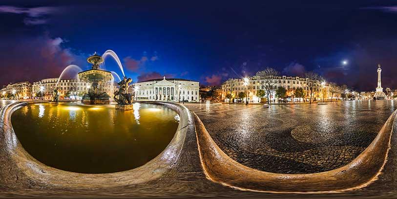 Pinche en la plaza del Rossio. Le aguarda un viaje espectacular por la capital portuguesa a trav�s de la pantalla.