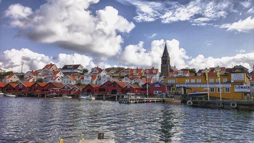 Vista general de Fj�llbacka, id�lica -en apariencia- localidad donde transcurren las novelas de L�ckberg.