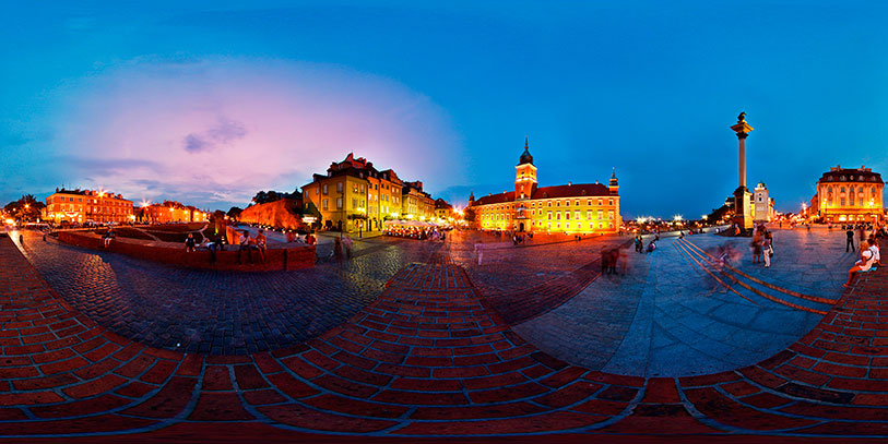 Pinche sobre la imagen para desplegar la panorámica en 360 grados de Varsovia.