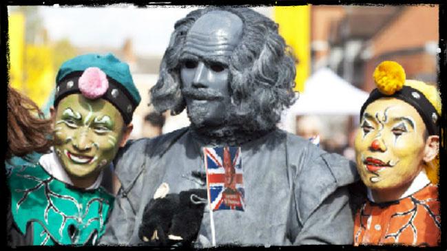 Celebración del cumpleaños de Shakespeare en su tierra natal el año pasado.