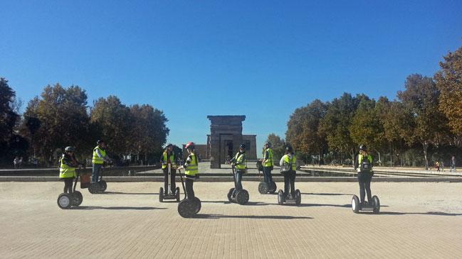 Las rutas de Segway Trip Madrid recorren los lugares más emblemáticos de la capital.