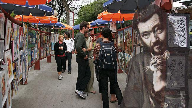 Mercado de arte en el barrio de Palermo. | Foto: Estrella Herrera