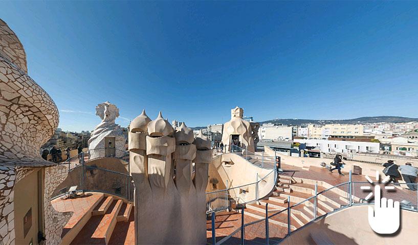 Pinche en la imagen para poder navegar libremente por ésta y otras panorámicas de 360º de Barcelona.