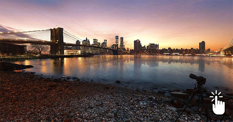 Pinche aquí para desplegar la panorámica completa y acceder a otras imágenes en 360 grados de Nueva York.
