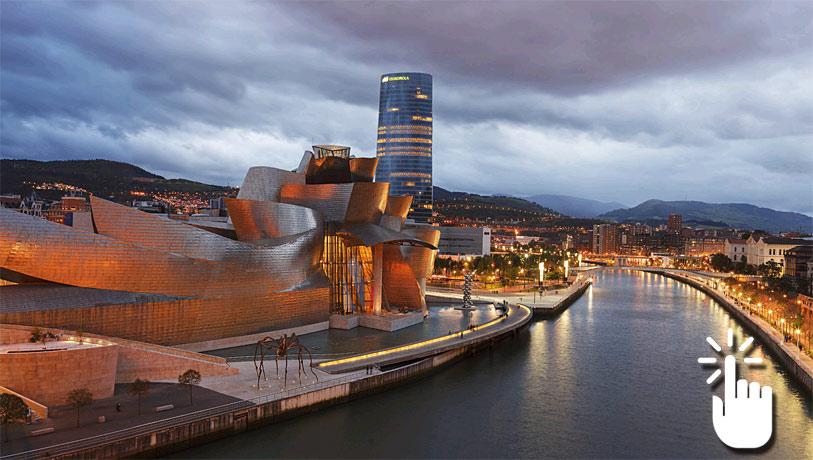 Pinche sobre la imagen para desplegar la panorámica completa y acceder a otras imágenes en 360 grados de Bilbao.