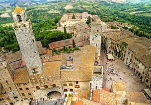 La localidad Toscana de San Gimignano es uno de los destinos preferidos del escritor Gonzalo Giner.