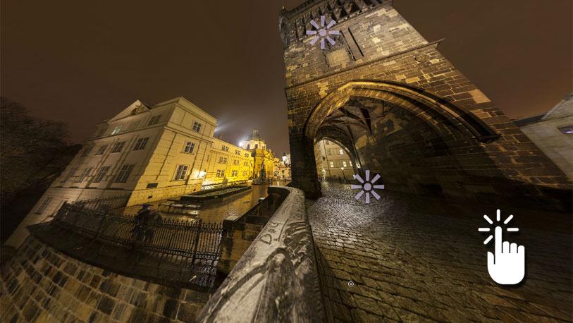 Pinche sobre la imagen para desplegar la panorámica completa y acceder a otras imágenes en 360 grados de Praga.