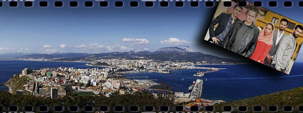 Panorámica de Ceuta, junto a los protagonistas de la serie televisiva 'El Príncipe'.