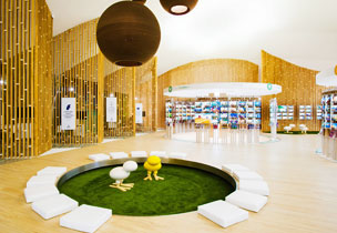Interior de Pangea, la mayor tienda de viajes del mundo, con sede en Madrid.