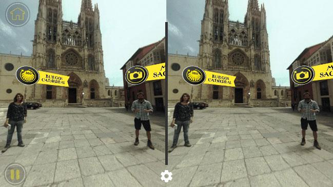 Un app con vídeos y escenas de realidad virtual para recorrer el Camino.