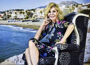 Bibiana Fern�ndez, en la presentaci�n de la campa�a tur�stica de Torremolinos, de la que es imagen.