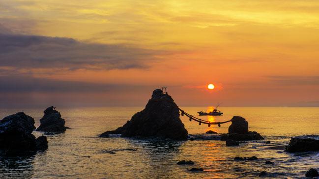 Las llamadas 'Rocas Casadas' son la se�a de identidad m�s famosa de Ise-Shima, la sede de la cumbre anual del G7.