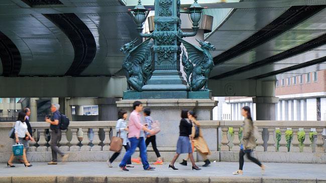 Diferentes instant�neas de restaurantes, vistas, bares, hoteles, tiendas y calles del del barrio de Nihonbashi.