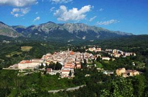Panor�mica del pueblo de Amatrice, en la regi�n italiana de Lazio.