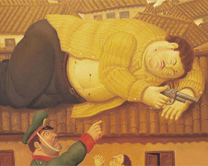 'Pablo Escobar Muerto' (2006), de Fernando Botero, donada al Museo de Antioquia.