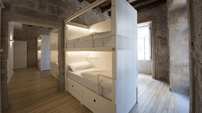 Habitación compartida de Bluesock Hostel en Oporto.