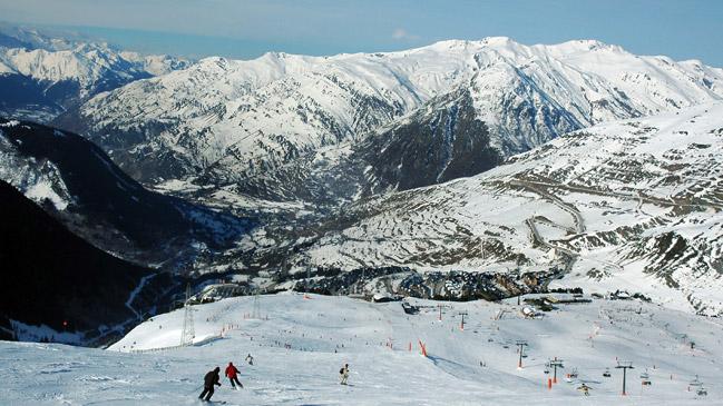 Las pistas del mayor dominio de nieve de España en Baqueira Beret.