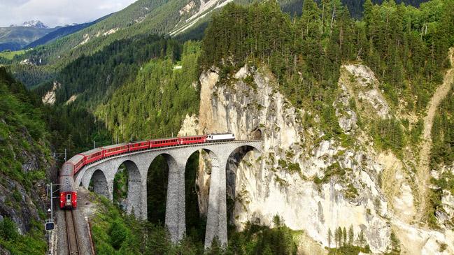 Viaducto Landwasser en Filisur, Suiza. Foto: Shutterstock.